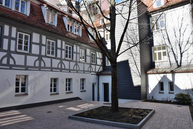 Innenhof des Geburtshauses von Ludwig Erhard. © Stiftung Ludwig-Erhard-Haus
