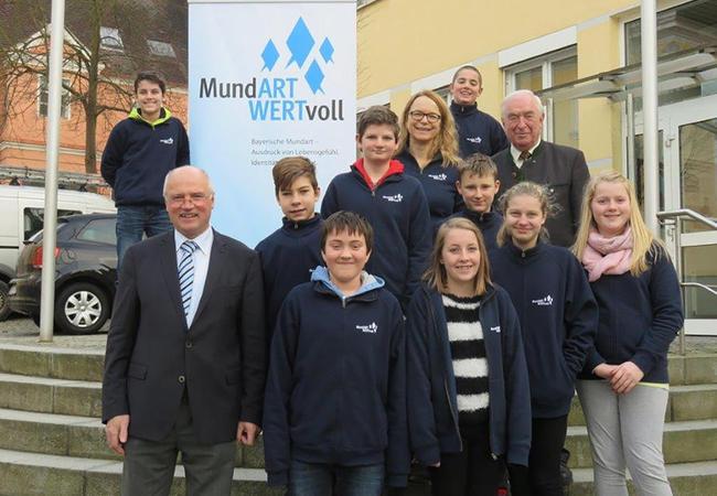 Besuch beim Bürgermeister in Mainburg.